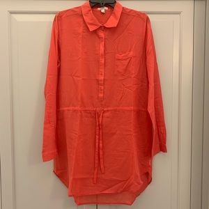 J. Crew Button-down Linen Tunic
